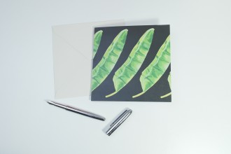 'Repeat' Botanical Watercolour Illustrated Greetings Card by YG Mason