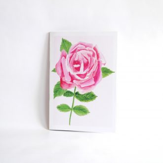 'Rose on Rose' A5 Illustrated Recycled Notebook